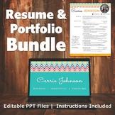 Resume & Portfolio Bundle - Rainbow Border