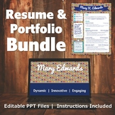 Resume & Portfolio Bundle - Polka Dot Banner