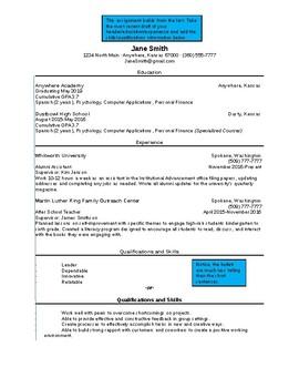Resume Skills/Qualifications