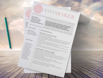 "Resume  Design Template 3 page  ""PinkPower"""