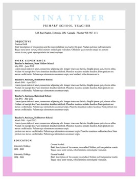 "Resume Template 9pack | MS Word ""Pink, Grey and Baby Blue"""