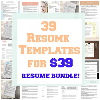 Resume Template Bundle - My Entire Resume Collection For Sale