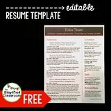 Editable Resume Template {FREEBIE!}