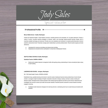 resume template cover letter and references gray