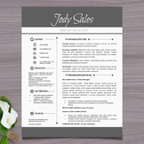 Resume Template + Cover Letter and References (Gray) - Pow
