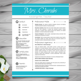 Resume Template + Cover Letter and Reference - EDITABLE (Blue + Light Gray)