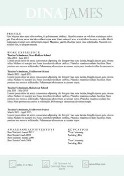 Resume Template Docx   Resume & Coverletter   Sea foam