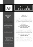 Resume  Design Template |References, and Coverletter Set, Grey and Black