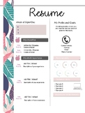 Resume Template: Floral