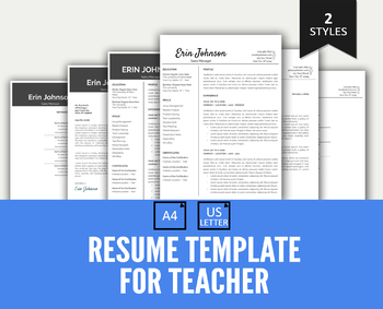 Resume Template Google Docs Editable And Cover Letter For Teacher