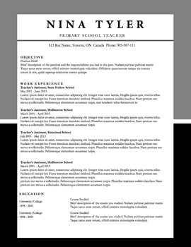 Resume Template MS Word | 6 Pack | Resume & Coverletter | Black & Grey