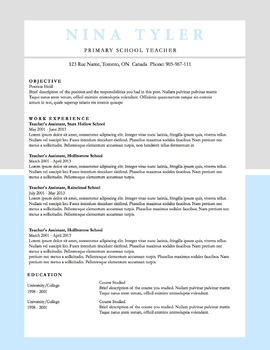 Resume Template MS Word | 6 Pack | Resume & Coverletter | Blue & Grey