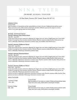 Resume Template MS Word | 6 Pack | Resume & Coverletter | Seafoam & Grey