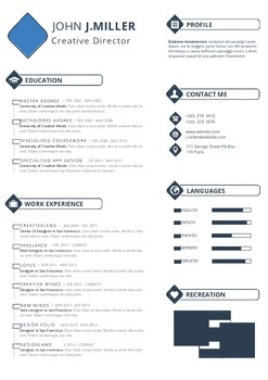 Resume Template | Professional Resume Design | MS Word Template