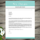Resume Template + Cover and Reference Letters (Green) - POWERPOINT EDITABLE