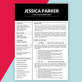 Editable Resume Template for Teachers MS Word DOCX, Educator Resume, Teaching CV