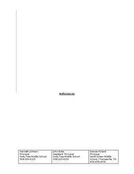 Resume Template! The PERFECT way to present yourself! Elementary Middle High