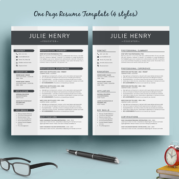Resume Template and Cover Letter for MS Word + SPECIAL BONUS