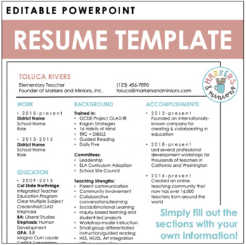 Resume Template (editable!)