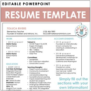Resume Template (editable!)