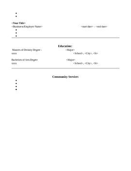 Resume Template for Anyone