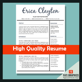 Resume Template for Teachers, MS Word Docx, CV Template, I