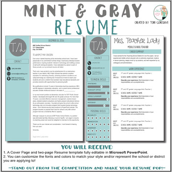 Teacher Resume Template Worksheets Teaching Resources