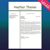 Teacher Resume Template, Educator Resume, Free CV Word Tem