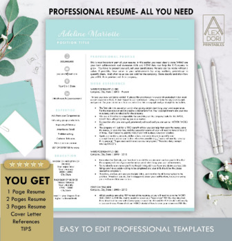 Resume Template In Mint All In One Template For Word Doc Mac Pages