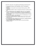 Resume Tips for Occupational Therapy Practitioners