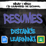 Resume Unit - One Week Distance Learning - SPED High School