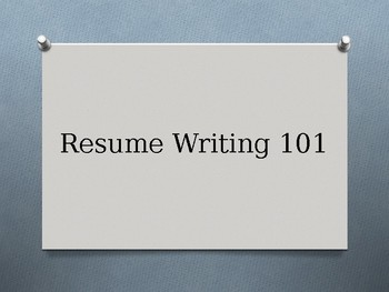 Resume Writing, Interview, and Credit