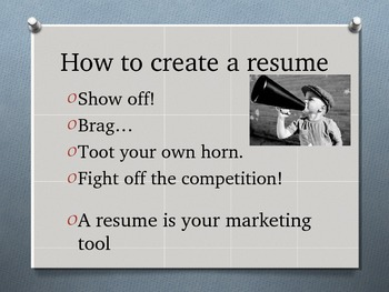 Resume Writing Introduction PPT