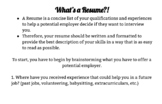 Resume Writing Resources-Including Fillable PDF Template f