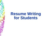 Resume Writing for Students