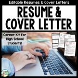Resume and Cover Letter Writing for Career Readiness - Editable Pages