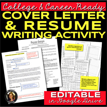 Resume and Cover Letter Writing for College & Career Readiness by ...