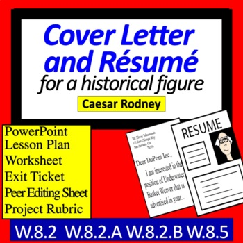 Historical Figures' Resume and Cover Letter