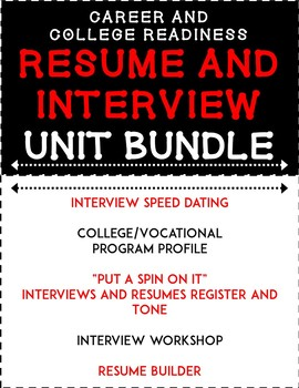Resume and Interview Unit Bundle