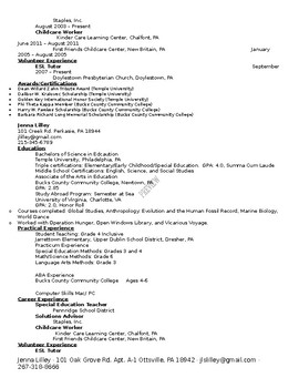 Resume and Job Interview Project