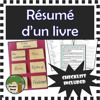 Résumé d'un livre – Story Summary – End-of-Unit Project - French