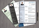 Resume template with cover letter for teachers and students