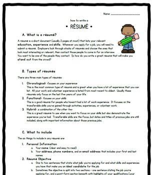 Résumé-writing guide for students