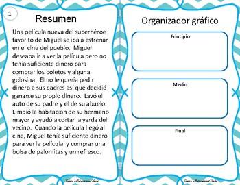 Resumen - Summary Task Cards - Spanish