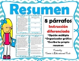 Resumen - Summary Task Cards - Spanish