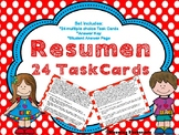 Resumen - Resumir - Summary Task Cards SPANISH