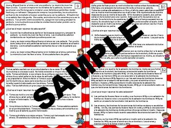 Resumen - Resumir - Summary Task Cards SPANISH