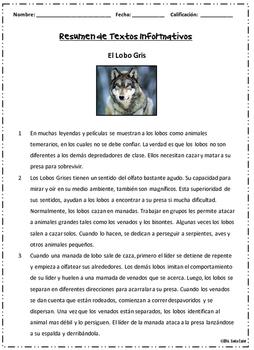 Resumen de Textos Informativos~Material de Instrucción y Practica para el STAAR