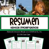 Resumen de Textos Informativos~Material de Instrucción y P