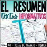 Resumen de un texto informativo | Spanish Summary Writing